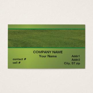 緑の緑豊かな芝生 名刺