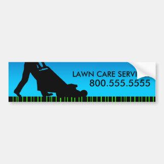 緑の縞の芝生の心配サービス バンパーステッカー
