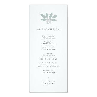 緑の群葉の結婚式プログラム カード