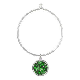 緑の羨望のブレスレット バングルブレスレット
