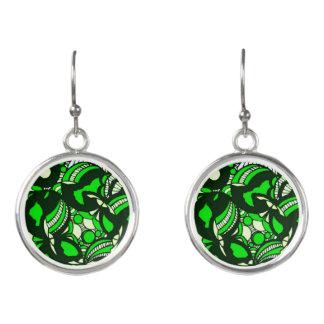 緑の羨望の低下のイヤリング イヤリング