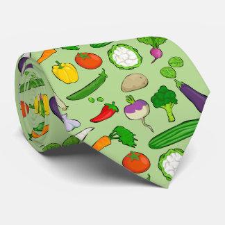 緑の背景との好みのビーガンのカラフル ネクタイ