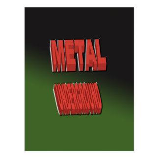 緑の背景と地下金属 ポストカード