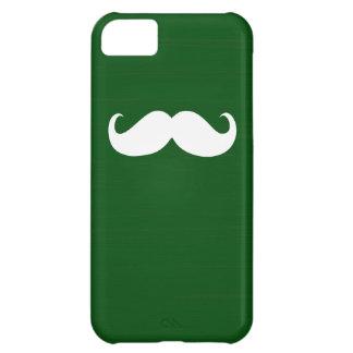 緑の背景のおもしろいで白い髭 iPhone5Cケース