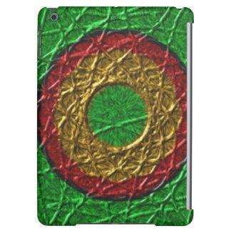 緑の背景の円パターン iPad AIRケース