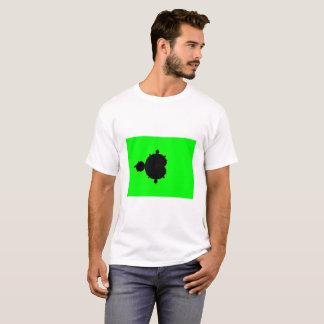 緑の背景のMandelbrotのフラクタルのTシャツ Tシャツ
