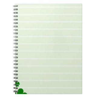緑の背景 ノートブック