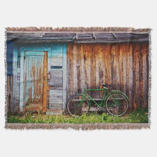 緑の自転車1のブランケット スローブランケット