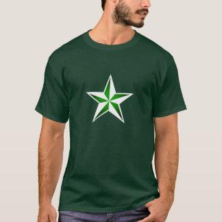 緑の航海のな星のTシャツ Tシャツ
