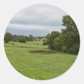 緑の芝生 ラウンドシール