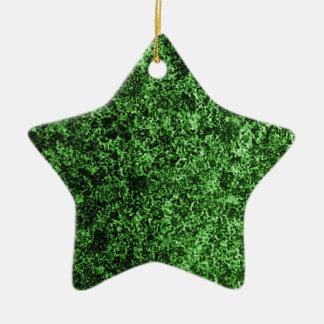 緑の花こう岩のデザイン 陶器製星型オーナメント