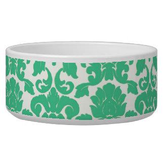 緑の花のダマスク織犬ボール