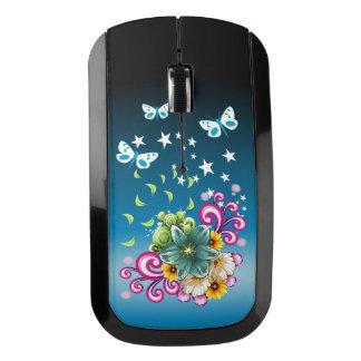 緑の花の無線マウス ワイヤレスマウス