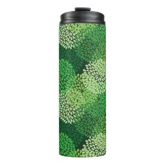 緑の花パターン タンブラー