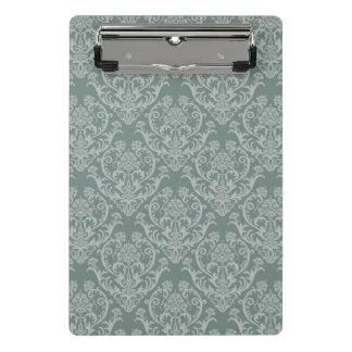 緑の花模様の壁紙 ミニクリップボード