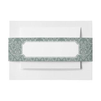 緑の花模様の壁紙 招待状ベリーバンド