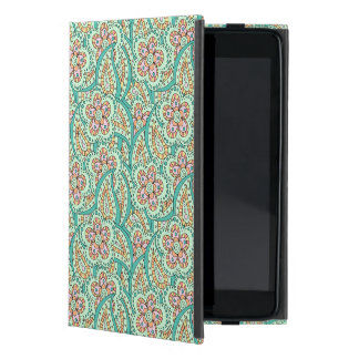 緑の花模様 iPad MINI ケース