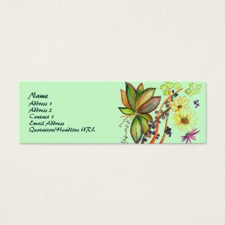 緑の花71のプロフィールカード スキニー名刺