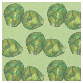 緑の芽キャベツの菜食主義の野菜グルメ ファブリック