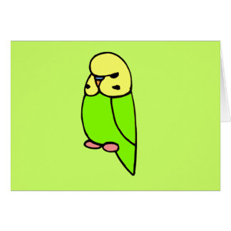 緑の英語Budgie カード