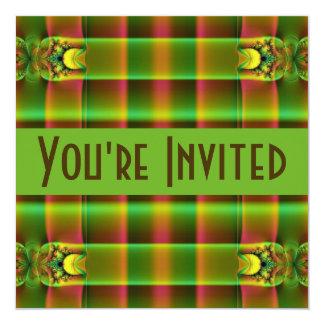 緑の茶色のフラクタル カード