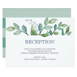 緑の草木の結婚披露宴カード カード