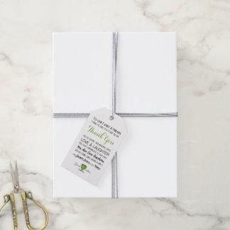 緑の草木の緑の写真の結婚式はメッセージカード感謝していしています ギフトタグ
