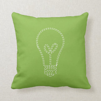 緑の草木の電球 クッション