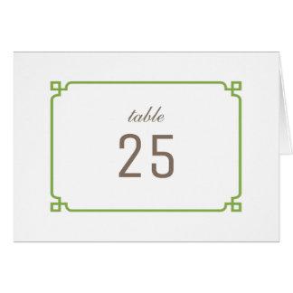 緑の草木のDecoのシックなテーブル数 グリーティングカード
