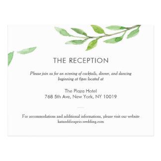 「緑の草木上がりま」は結婚式の詳細披露宴を夢を見ます ポストカード