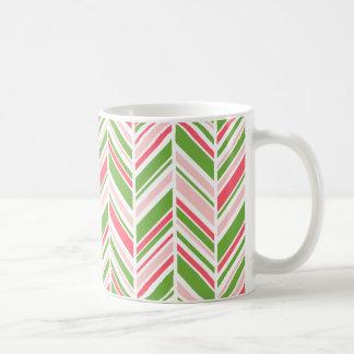 緑の草木、カリュプソーの珊瑚およびローズクォーツ コーヒーマグカップ
