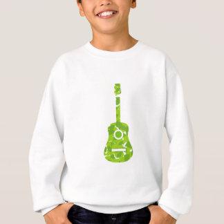 緑の葉が付いているギター スウェットシャツ
