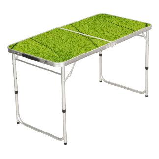 緑の葉が付いているPongのテーブルのプリント ビアポンテーブル