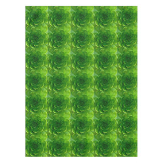 緑の葉が多いSucculent テーブルクロス