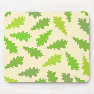 緑の葉のパターン マウスパッド