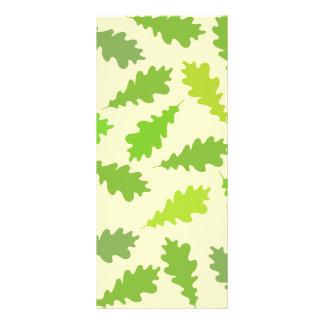 緑の葉のパターン ラックカード