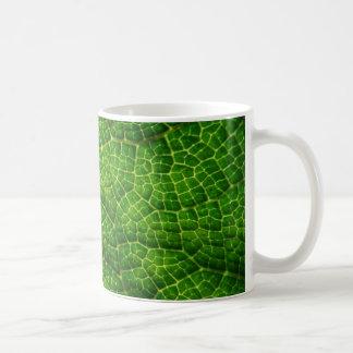 緑の葉のマクロ コーヒーマグカップ