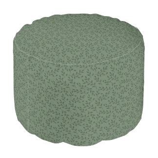 緑の葉のラウンドパフ プーフ