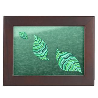 緑の葉の抽象芸術1 ジュエリーボックス