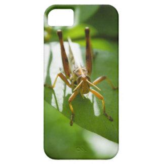 緑の葉のiPhoneの箱のバッタ iPhone SE/5/5s ケース