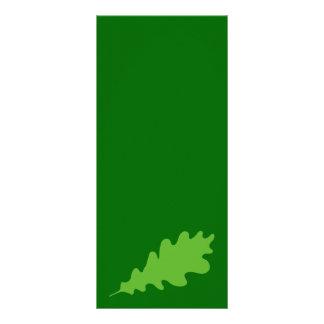 緑の葉、オークの木の葉の設計 ラックカード