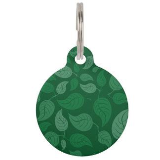 緑の葉 ペット ネームタグ