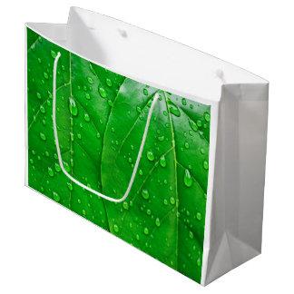 緑の葉 ラージペーパーバッグ