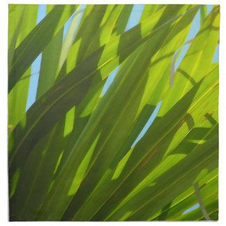 緑の葉、日光および青空 ナプキンクロス
