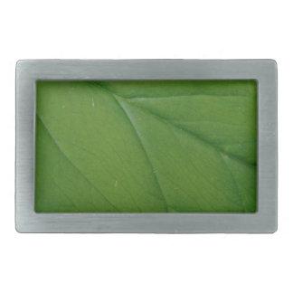 緑の葉 長方形ベルトバックル
