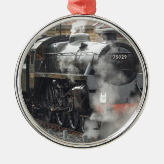 緑の蒸気機関車 メタルオーナメント