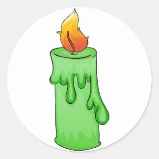 緑の蝋燭 ラウンドシール