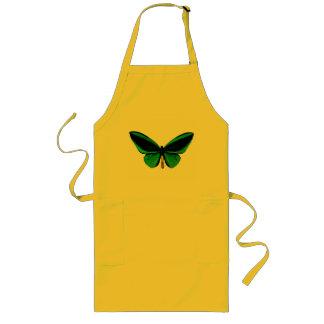 緑の蝶エプロン ロングエプロン