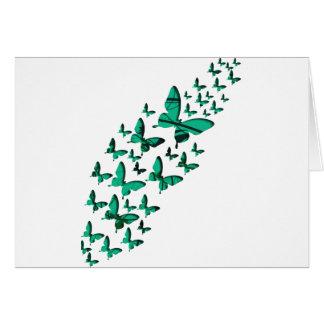 緑の蝶切り出し カード