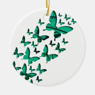 緑の蝶切り出し セラミックオーナメント